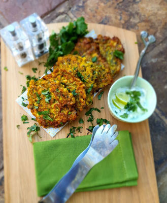 Cauliflower & Cumin Fritters With Lime Sauce