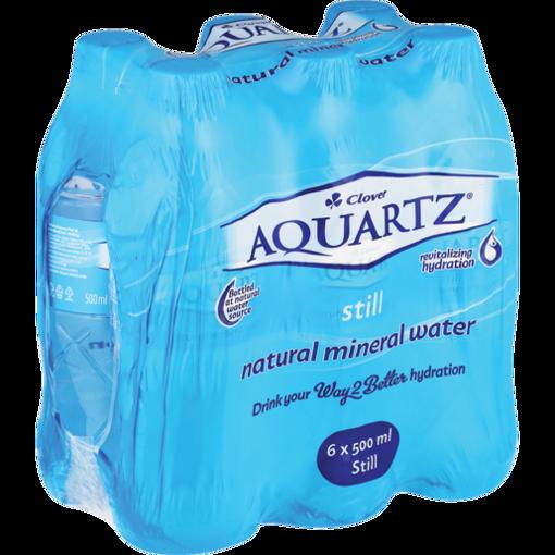 Picture of Aquartz Pure Still Natural Mineral Water 6 x 500ml