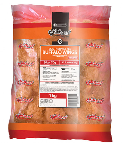 Picture of Southern Style Spicy Buffalo Wings (1 Kg)