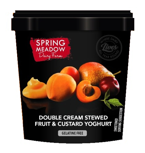 Picture of Yoghurt (Double Cream) -Stewed Fruit and Custard - 1Lt