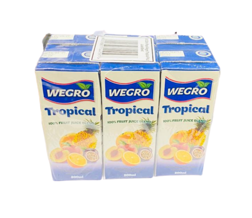 Picture of Wegro - Tropical Juice 200ml 6 Pack