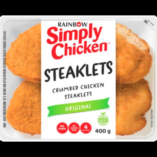 Picture of Rainbow Simply Chicken Original Crumbed Chicken Steaklets 400g