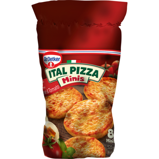 Picture of Dr. Oetker Ital Pizza Minis Frozen Cheese & Tomato Pizzas 520g