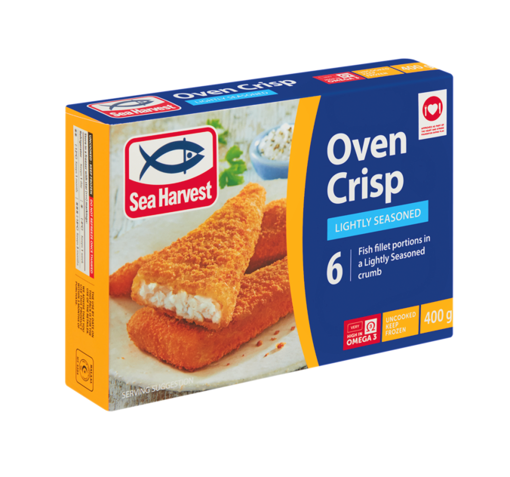 Picture of Sea Harvest Frozen Oven Crisp Lightly Season Crumbed Fish 400g