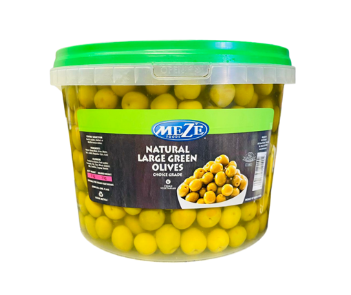 Picture of Meze Green Olives In Brine - Bucket